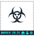 Biohazard icon flat vector image