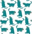 Cartoon Monster Dogs Seamless Pattern vector image