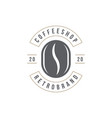 coffee shop logo template bean silhouette vector image