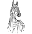 Horse head animal for t-shirt Sketch tattoo design vector image