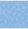 Kids playing seamless pattern background vector image