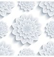 Seamless pattern grey with 3d flower chrysanthemum vector image