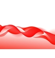 Abstract Red Wave on Background vector image