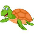 happy turtle cartoon vector image