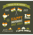 India Independence Day Celebration Icons Set vector image vector image