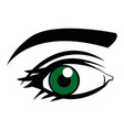cute female green eye look vision design vector image