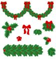 set of elements for Christmas vector image