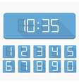 Digital Numbers and Clock vector image vector image