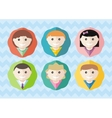 Set of round avatars different boys and girls vector image vector image
