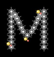Abstract star M alphabet character vector image
