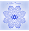 Amazing mandala of lilac flowers vector image
