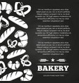 blackboard poster with bread and croissant - vector image