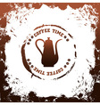 coffee time template vector image
