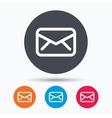 Envelope icon Send message sign vector image