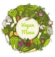 pattern with vegetables and herbs vector image