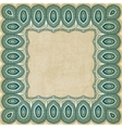 retro border pattern old background vector image