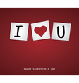 Valentine Post-it vector image
