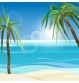 01 Sea palms vector image