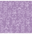 Group of children seamless pattern background vector image