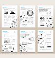 presentation booklets - bw template a4 vector image