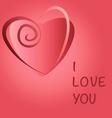 Heart love copy vector image vector image