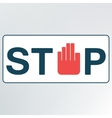 sign stop vector image