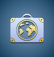 Icon suitcase with a map vector image vector image