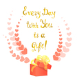 Greeting Card with Golden Lettering vector image