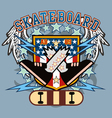 SkateBoard crossfeet vector image vector image