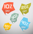 Discount Sale Tags Set vector image