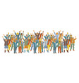 horizontal big group happy people vector image