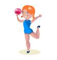 little gymnast acrobat girl cartoon vector image