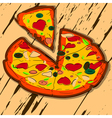sliced pizza vector image