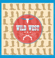 wild west card with cowboy boots decoration vector image