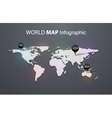 World map beautiful and trendy background vector image