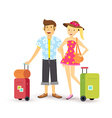 Young couple summer holiday vacation travel summer vector image