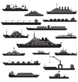 Ship and boat icon set vector image