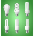 Set of energy saving light bulbs vector image