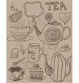 tea wallpaper vector image