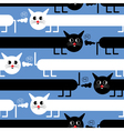 crazy cats vector image vector image