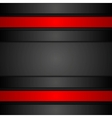 Black and red corporate tech design vector image