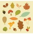 autumn set of elements vector image