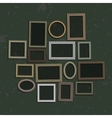 Big set picture frame vector image