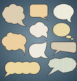 Banner speech bubbles vector image