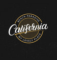 california hand written lettering vector image