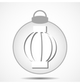 Christmas icon with the silhouette of the garland vector image