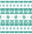 Christmas seamless background with balls vector image