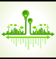 Ecology concept with eco bulb vector image