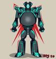Grey Grunge Robot vector image