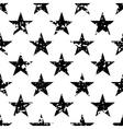 Grunge stars seamless pattern vector image